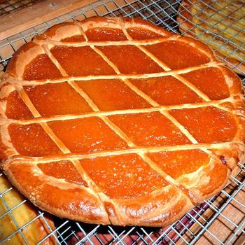 Belgian apricot tart